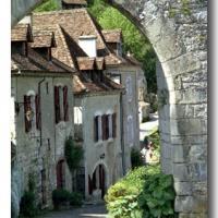 Medieval village gate